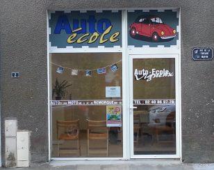 Auto-école Vigneux – entrée (porte)
